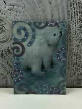 "ACEO Trading Card ""The Christmas Rabbit"" Made Out Glitter Sticker"