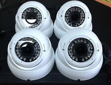 4x HD-CVI 2.4MP 1080p Outdoor Metal Varifocal Dome Cameras CMOS 2.8-12mm