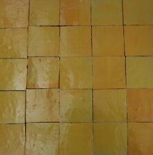 0,20m² marokkanische Zellige gelb 10x10cm - Mosaikkacheln Wandkacheln Fliesen