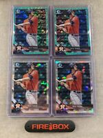 (4) 2018 Bowman Chrome Kyle Tucker Aqua Shimmer /125 Atomic Lot Astros