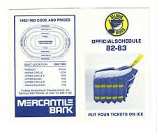 1982-83 St. Louis Blues NHL Hockey Pocket Schedule