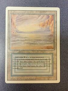 MTG Magic the Gathering Revised UNDERGROUND SEA EXMT *JW08
