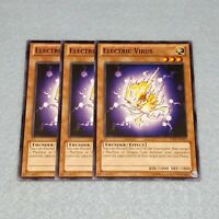 3x Yugioh Electric Virus YSYR Common Card Playset NM