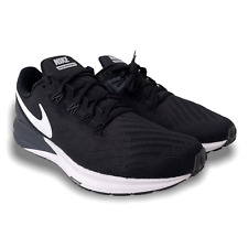 Nike Air Zoom Structure 22 Running Shoe for Men, Size 14, - Black/Gridiron/White