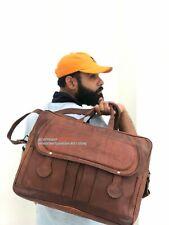 """18"""" Handmade Men's Big Leather Messenger Bag Shoulder School Satchel Laptop Bag"""