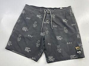 Billabong x Jean Michel Basquiat Collection Swim Trunks Board Shorts Men's 34