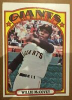 1972 Topps Willie McCovey Giants HOF