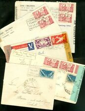 EDW1949SELL : FRENCH POLYNESIA Collection of 5 Censored covers