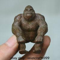 """1,8 """"Antike chinesische Rotbronze Tiermensch Affe Gorilla Orang Statue"""