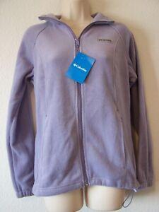 COLUMBIA Benton Springs Full Zip Fleece Sweatshirt Lavender Size Small