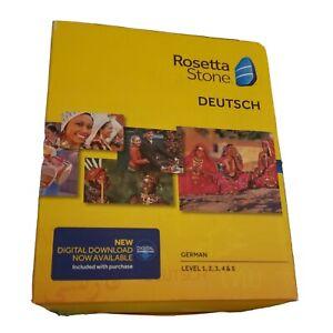 Rosetta Stone Deutsch Version 5 German Level 1-5 PC & MAC - Excellent Condition!