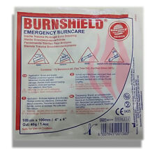 """BURNSHIELD 4""""X4"""" (10CM X 10CM) Burn Dressing Burn Aid IFAK EMT EMS First Aid"""