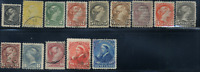 Canada #34-47 used F/VF 1870-1897 Queen Victoria Small Queen Set CDS CV$333.80