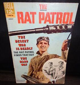 """Vintage 1967 Dell Comics """"THE RAT PATROL"""" #4 Comic Book! Super Condition!"""