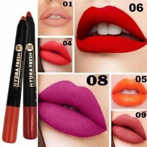 Cosmetic Beauty Sexy Lip Gloss Matte Lipstick Pencil Nude Velvet Waterproof