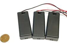 3 Pieces Twin two 2 AAA Battery Holder Case Box 3V With Power Switch Wire c12