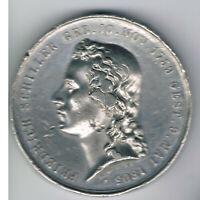 M138 Zinn Medaille 100.Schiller 1759- dicke Prägung 1859 Dm34xH4mm 23g ss-vzgl.