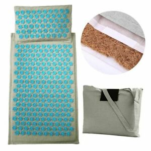 Yoga Mat Lotus Spike Acupressure Massager Relaxation Stress Relief Cushion Pads