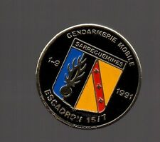 Pin's Police / EGM Escadron de Gendarmerie Mobile 15/7  (Sarreguemines)