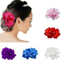 Beautiful Bridal Rose Flower Hairpin Floral Hair Clip For Wedding Party Z4T0