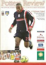 Football Programme - Stoke City v Colchester United - Div 2 - 3/3/2001