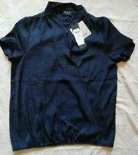 BNWT Vila Clothes Navy Crossover Ladies Blouse size XS