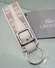 624b29e40310ea New Authentic LACOSTE KEYRING KEY FOB Chantaco Jaquard 1 Sand Beige