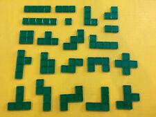 21 Green Pieces Original Parts for Blokus Game