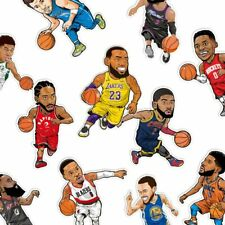 Basketball players cool 1pc/16pcs Stickers Decals Vinyl Skateboard Luggage