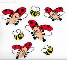 7 tlg.Window Color Frühlings-Angebot!!!Marienkäfer u. Bienen-Kinderzimmer-Deko