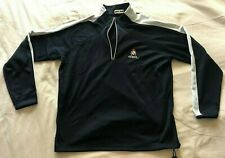 Vintage North End navy Blue/White Long-Sleeve 1/4 Zip-Neck Pullover Size Xl