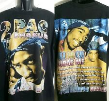 VTG 90's 2Pac TUPAC T SHIRT Only God Can Judge Me RIP DISTRESSED XL Blk Rap Tee