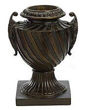 Urn Black Bronze Pot & Handles Planter Container Vase Basket Fiberglass Pottery