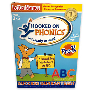 Hooked on Phonics Get Ready To Read Letter Names Letter Sounds ABC Pre K Age 3-5