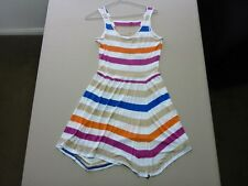 095 WOMENS NWOT ROXY WHITE / SAND / ORANGE / PURPLE SLEEVELESS DRESS 8 $60 RRP.