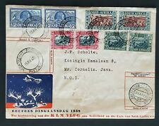 1938 Netherlands South Africa to Java Multi Franking First Flight Air Mail Cover