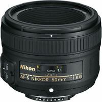 Nikon AF-S NIKKOR 50mm f/1.8G Lens for Nikon DSLR Cameras NEW!