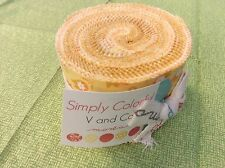 "CLEARANCE -Simply Colorful by V & Co - JR Jelly Roll - Yellow - 20 x 2.5"" strips"