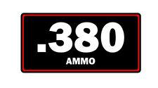 .380 ammo label can vinyl sticker decal bumper gun rifle bullet glock ar15 ak47