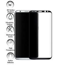 Protector de Pantalla Cristal Templado Curvo 3D para Samsung Galaxy S8 Negro