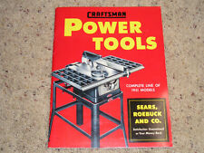 Craftsman power Tools Catalog 1951 Sears Roebuck Co. *Excellent Plus*