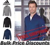Adidas Mens Lightweight Quarter-Zip Pullover Shirt polyester A401 up to 4XL