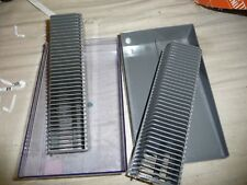Slide projector cassette trays X2 36 slides FOR GAF Hanimex Zeiss Leica clearbox