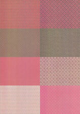 Motiv-Kartenpapier/Karton-TKK 02-verschiedene Muster mit Glimmer-ca.260g -A5