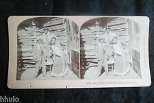 STB467 Scène de genre promenade de gateau stereoview photo STEREO albumen