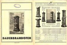 Prospekt 1926, Dauerbrandöfen, J.R. Erdbrink, OSNABRÜCK