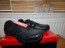 Bnwb Red tape Black Leather Casual Shoes In Size UK 12 (Y222)