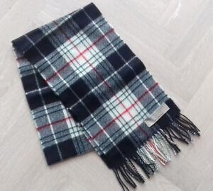 NEW Cornish St Piran tartan Brushed lambswool scarf with fringing - rectangular