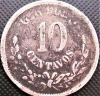 1887 Mexico 10 Centavos GoR KM#403.5 - Silver Coin