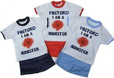 by Baby C Boys Monster Shorts & Top Set Postage 6 - 12 Months Navy